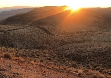 Dante's view in Death Valley at sunrise