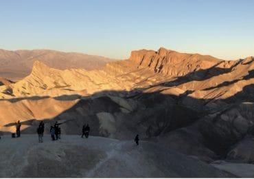 Zabriskie Point in Death Valley at sunrise