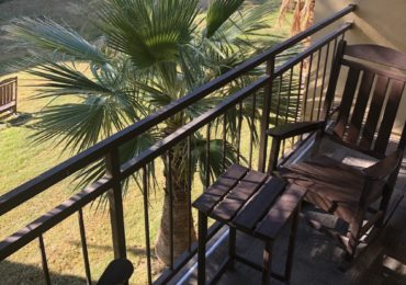 The balcony in The Ranch at the Oasis at Death Valley